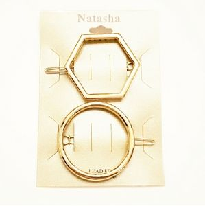 NWT Natasha Gold Hair Clips